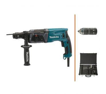 MAKITA Perforateur burineur SDS plus 3 en 1 - 780W + coffret de forets et de burins MAKITA
