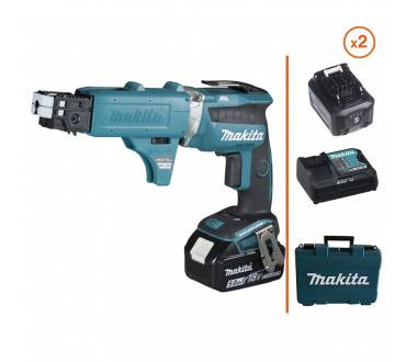 MAKITA Visseuse à placo 18V + 2 bat. 5 Ah + chargeur MAKITA