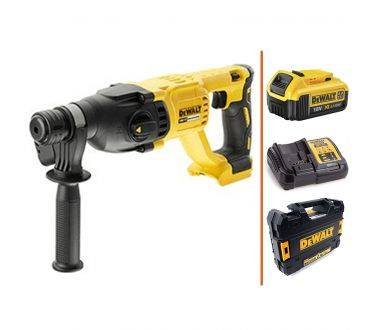DEWALT Perforateur SDS plus 18V - 1.bat 4Ah + Chargeur + Coffret DEWALT