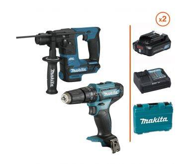 MAKITA Perceuse-visseuse à percussion + Perforateur SDS-Plus 12V - 2 bat. 3 Ah + chargeur MAKITA