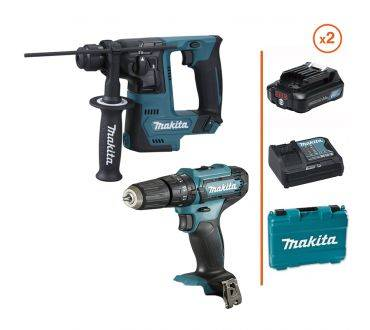 MAKITA Perceuse-visseuse à percussion + Perforateur SDS-Plus 12V - 2 .bat. 3 Ah + chargeur MAKITA