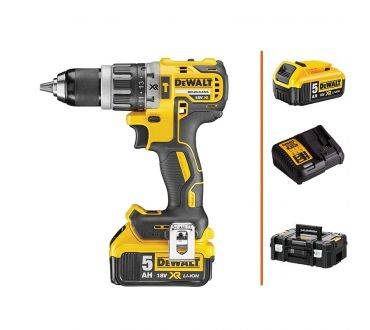DEWALT Perceuse à percussion 18V - 1 bat. 5 Ah + chargeur DEWALT