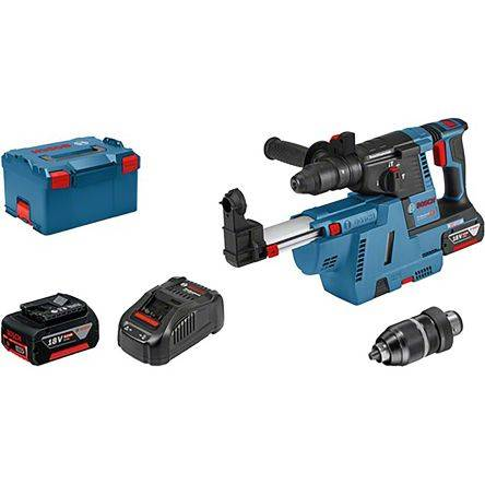 Bosch Perceuse à percussion SDS-Plus SDS Plus GBH 18V-26 F + GDE 18V-26 18V SDS 6Ah Li-ion 2 Batteries, 0611910004