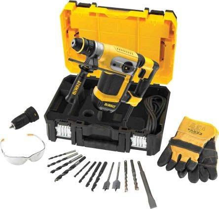 DeWALT Perceuse à percussion SDS Changement rapide, D25417KT-GB