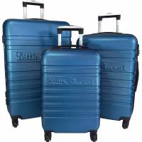 Little Marcel Lot 3 Valises Rigides dont 1 Valise Cabine Little Marcel ABS - BLEU <br /><b>100 EUR</b> bleucerise