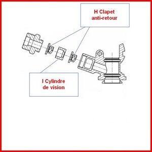 MICRO MATIC Kit vision MICRO MATIC pour tête de fut de pompe à bière S