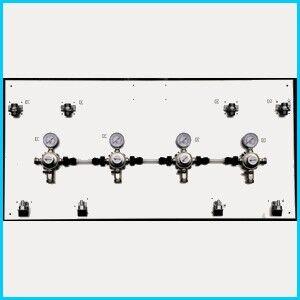 Oxyturbo Tableau INOX avec raccords et 5 détendeurs secondaires OXYTURBO CO2 et N2 ...