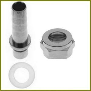 "MICRO MATIC Raccord droit octogonal 3/4"" avec cannelure 7 mm INOX MICRO MATIC pour tuyau ..."