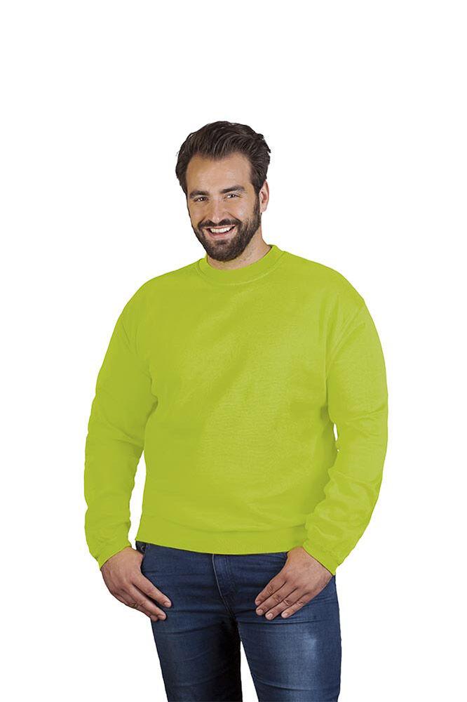promodoro Sweat Premium grandes tailles Hommes L vert citron