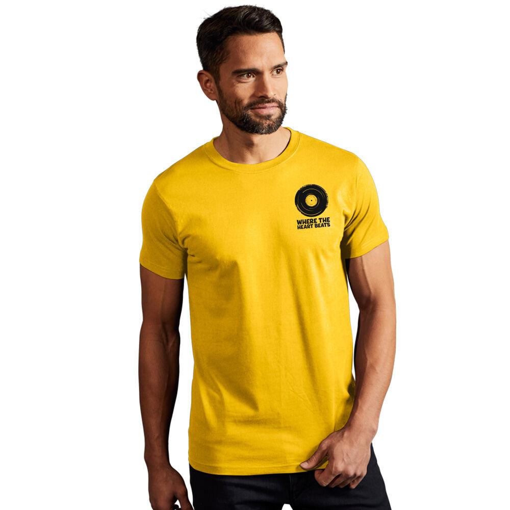 "promodoro Print ""promodoro heart beats"" T-shirt premium Hommes or"
