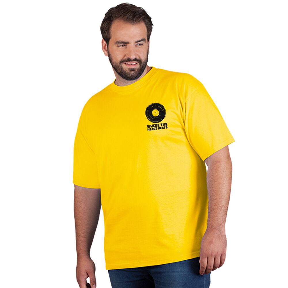 "promodoro Print ""promodoro heart beats"" T-shirt premium grandes tailles Hommes or"