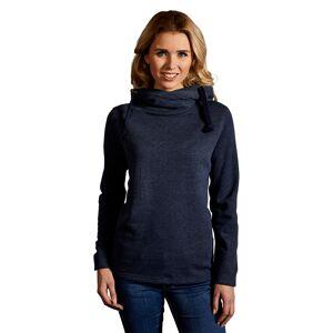 promodoro Sweat capuche chiné 60-40 Femmes XL bleu chiné