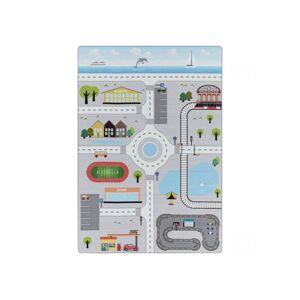 BOBOCHIC Tapis CIRCUIT Gris 100x150 - Publicité