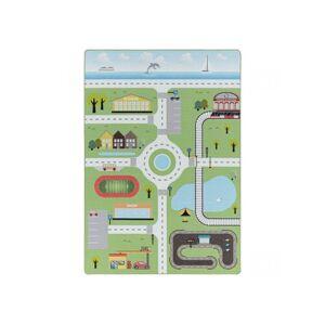 BOBOCHIC Tapis CIRCUIT Vert 160x230 - Publicité