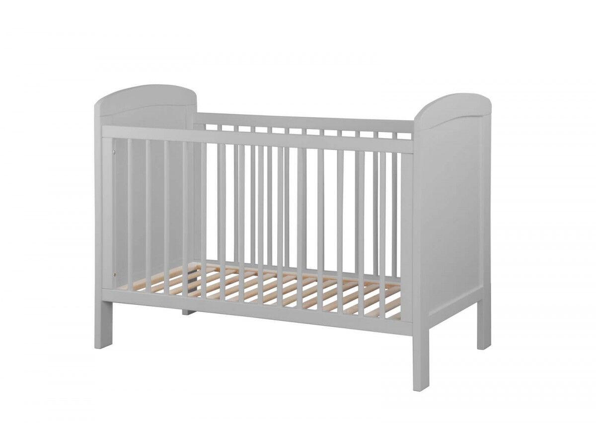 BOBOCHIC Lit bébé SELMA 60x120 cm Gris