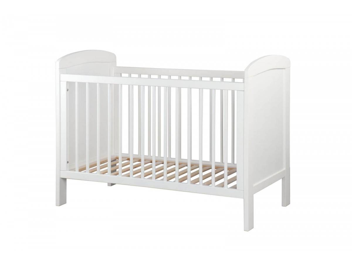 BOBOCHIC Lit bébé SELMA 60x120 cm Blanc