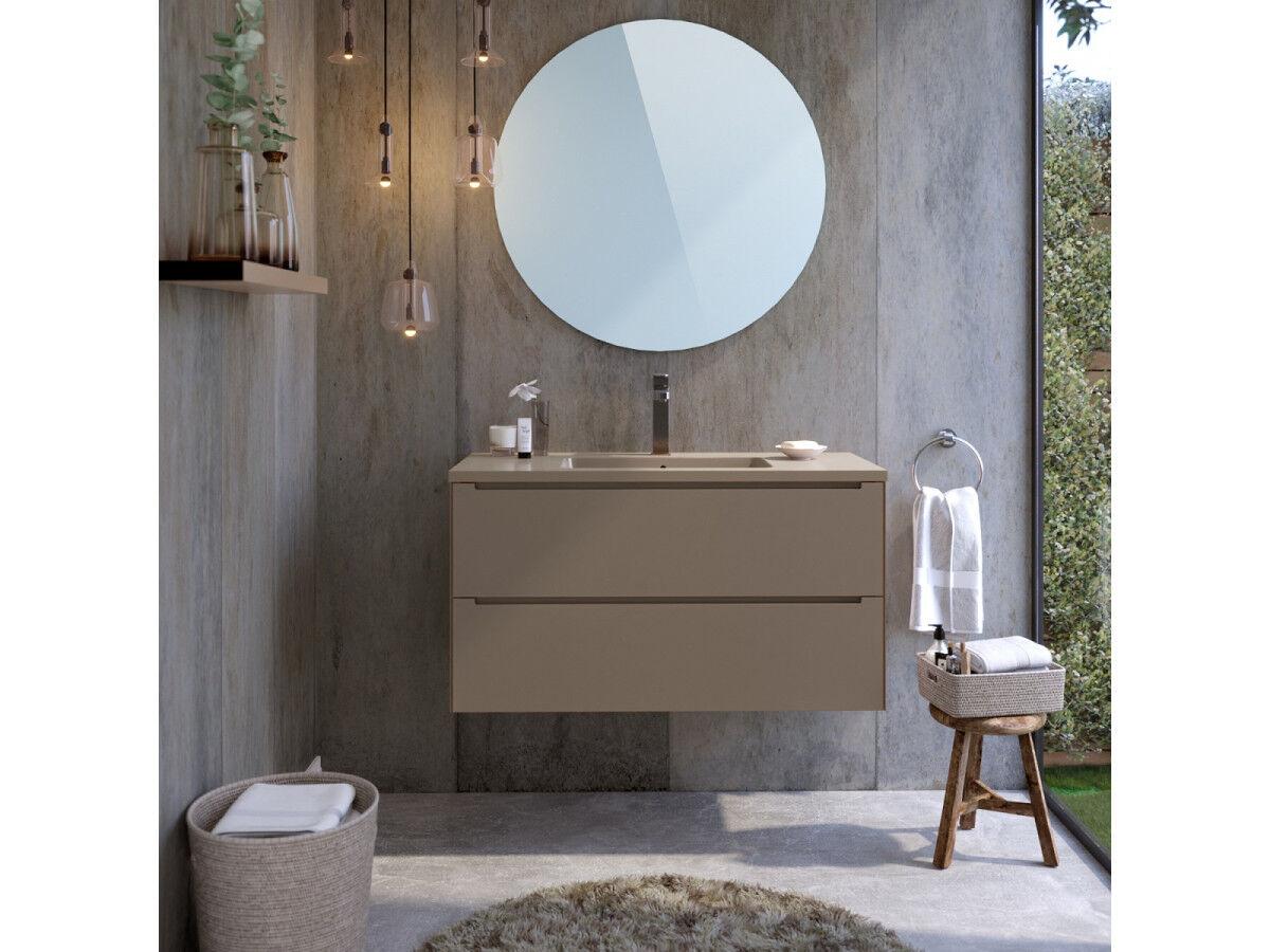 BOBOCHIC Meuble de salle de bain 100 cm IKON Chocolat