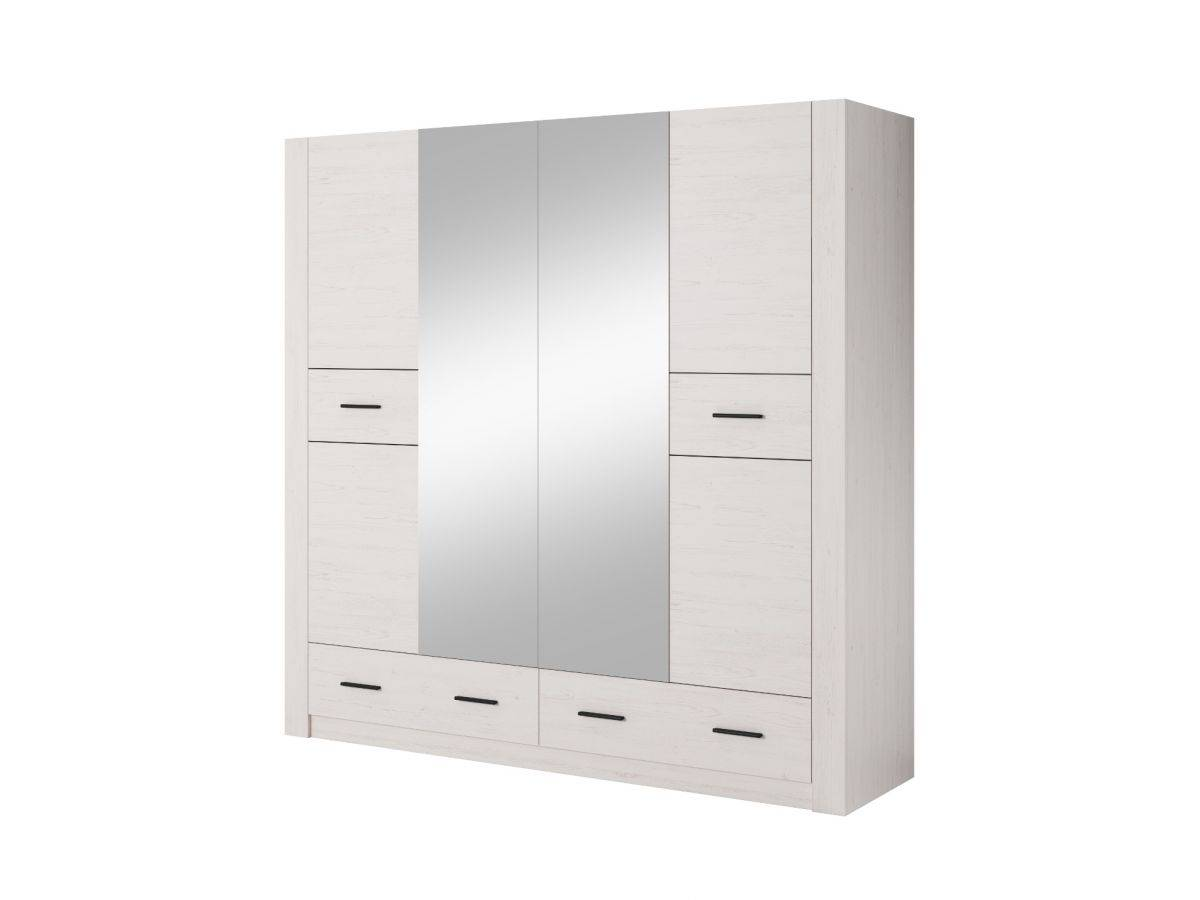 BOBOCHIC Armoire L200 cm ANDERSEN Blanc