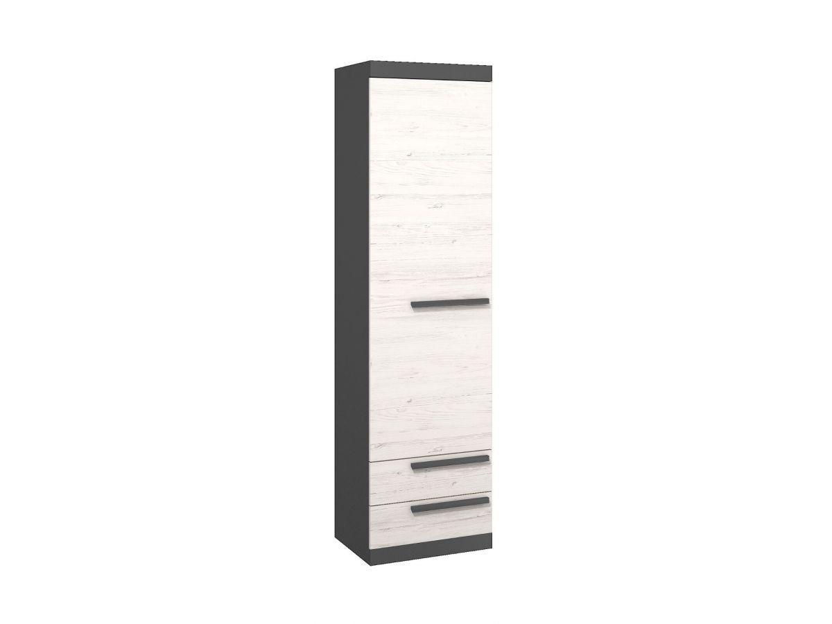 BOBOCHIC Armoire 55 cm TRENDY Blanc et gris