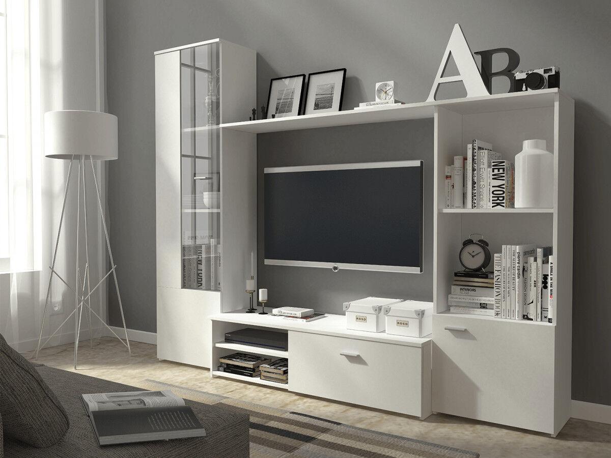 BOBOCHIC Composition TV 220 cm HUMA Blanc