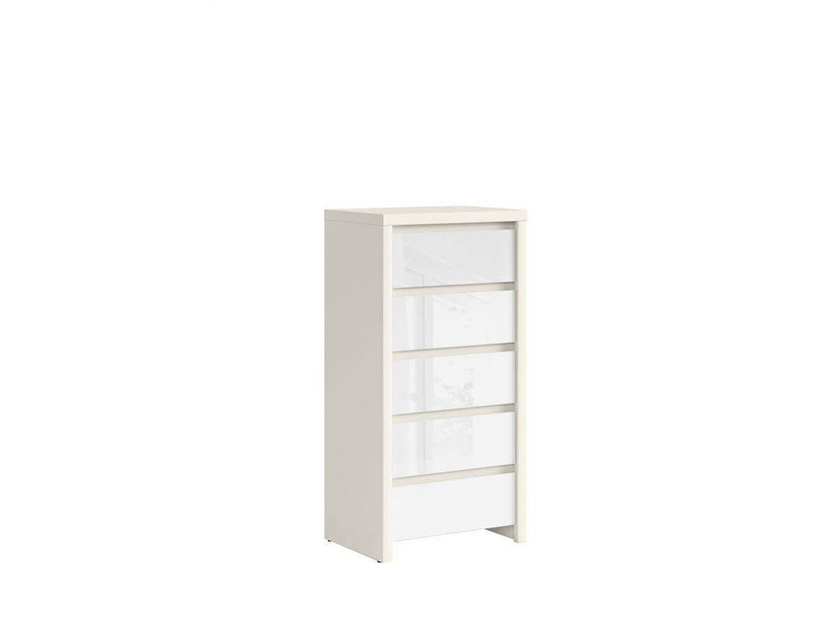 BOBOCHIC Commode 56 cm PURITI Blanc et Blanc brillant