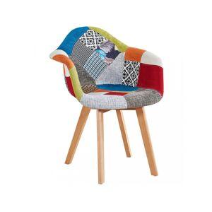 BOBOCHIC Fauteuil FABIO patchwork multicolore Multicolore 3 - Publicité