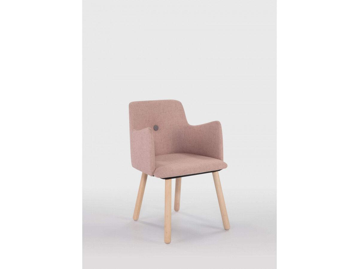 BOBOCHIC Ensemble de 2 fauteuils KWASI rose poudré