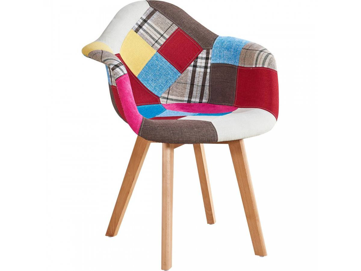 BOBOCHIC Fauteuil FABIO patchwork multicolore Multicolore