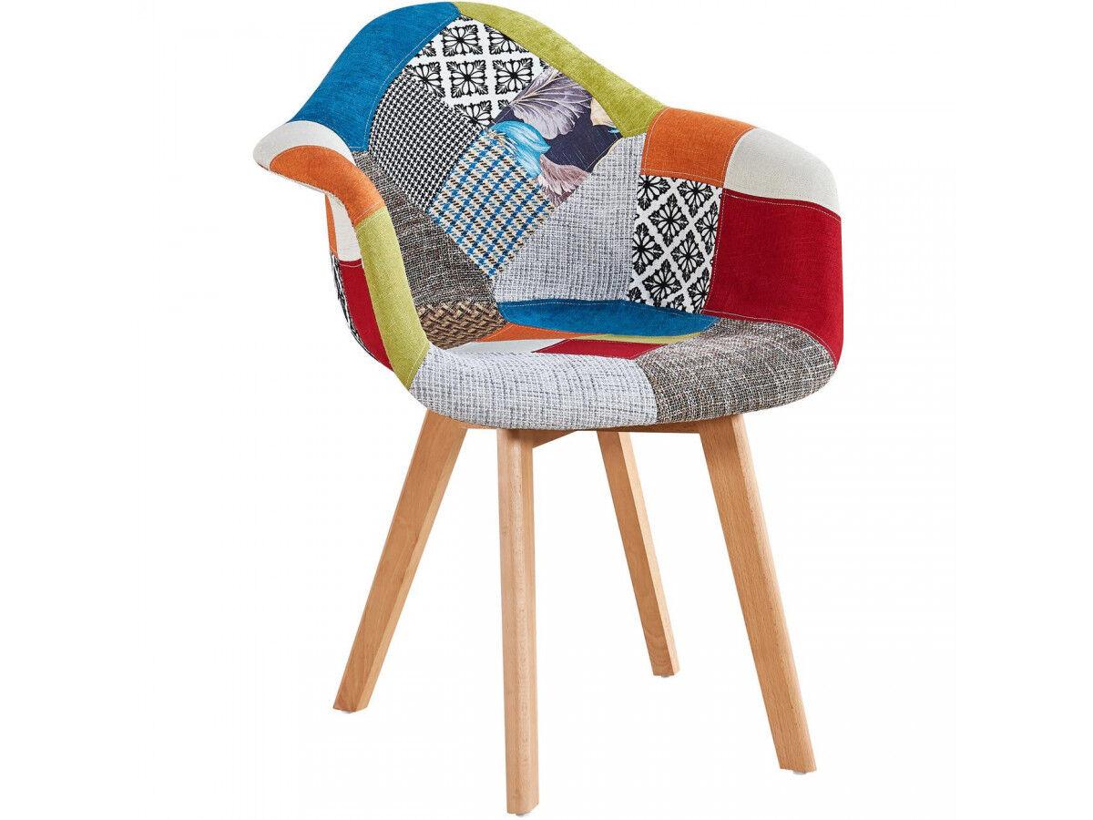 BOBOCHIC Fauteuil FABIO patchwork multicolore Multicolore 3