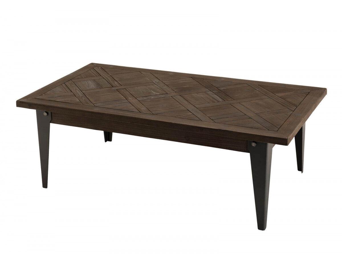 BOBOCHIC Table basse 120x66cm bois plateau Sapin marqueté BUBA