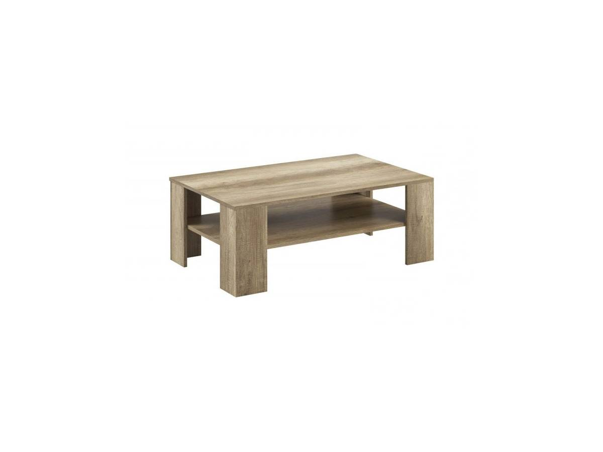 BOBOCHIC Table basse SKYLINE Chêne blanchi