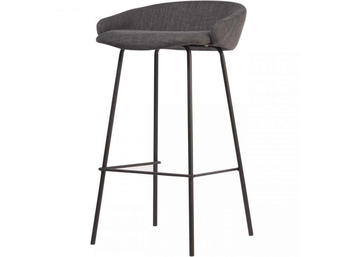 BOBOCHIC Lot de 2 chaises IRVINGTON Gris foncé H.83cm