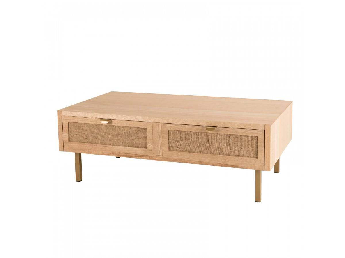 BOBOCHIC Table basse toile de jute DAIAI