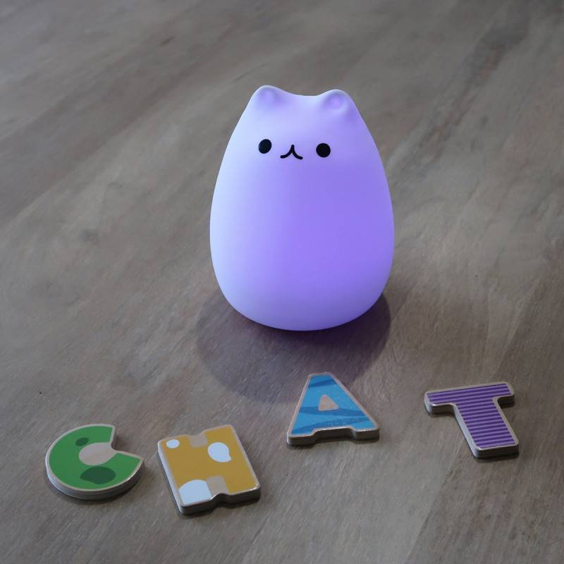 Veilleuse LED chat rechargeable