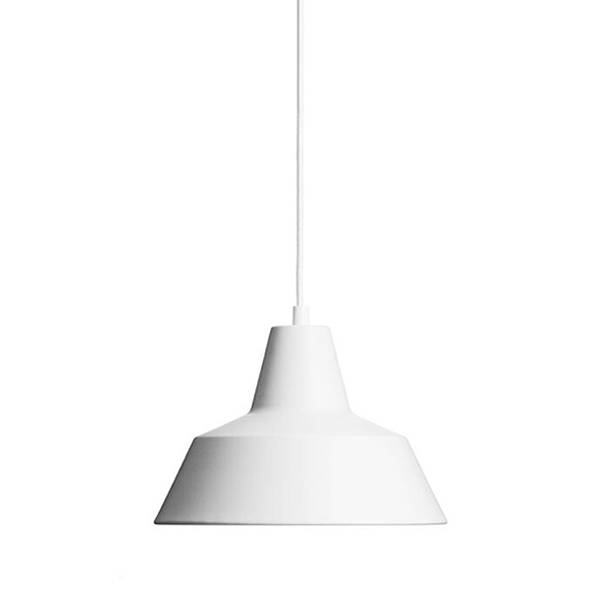 Made By Hand Lampe d'Atelier Suspension Blanc Mat W2