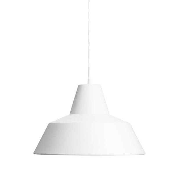 Made By Hand Lampe d'Atelier Suspension Blanc Mat W3