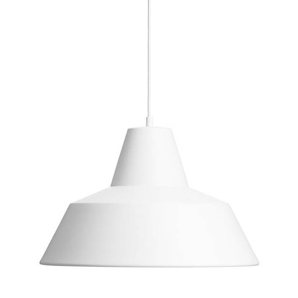 Made By Hand Lampe d'Atelier Suspension Blanc Mat W4