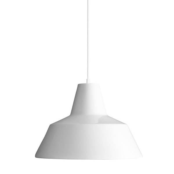 Made By Hand Lampe d'Atelier Suspension Blanc W3