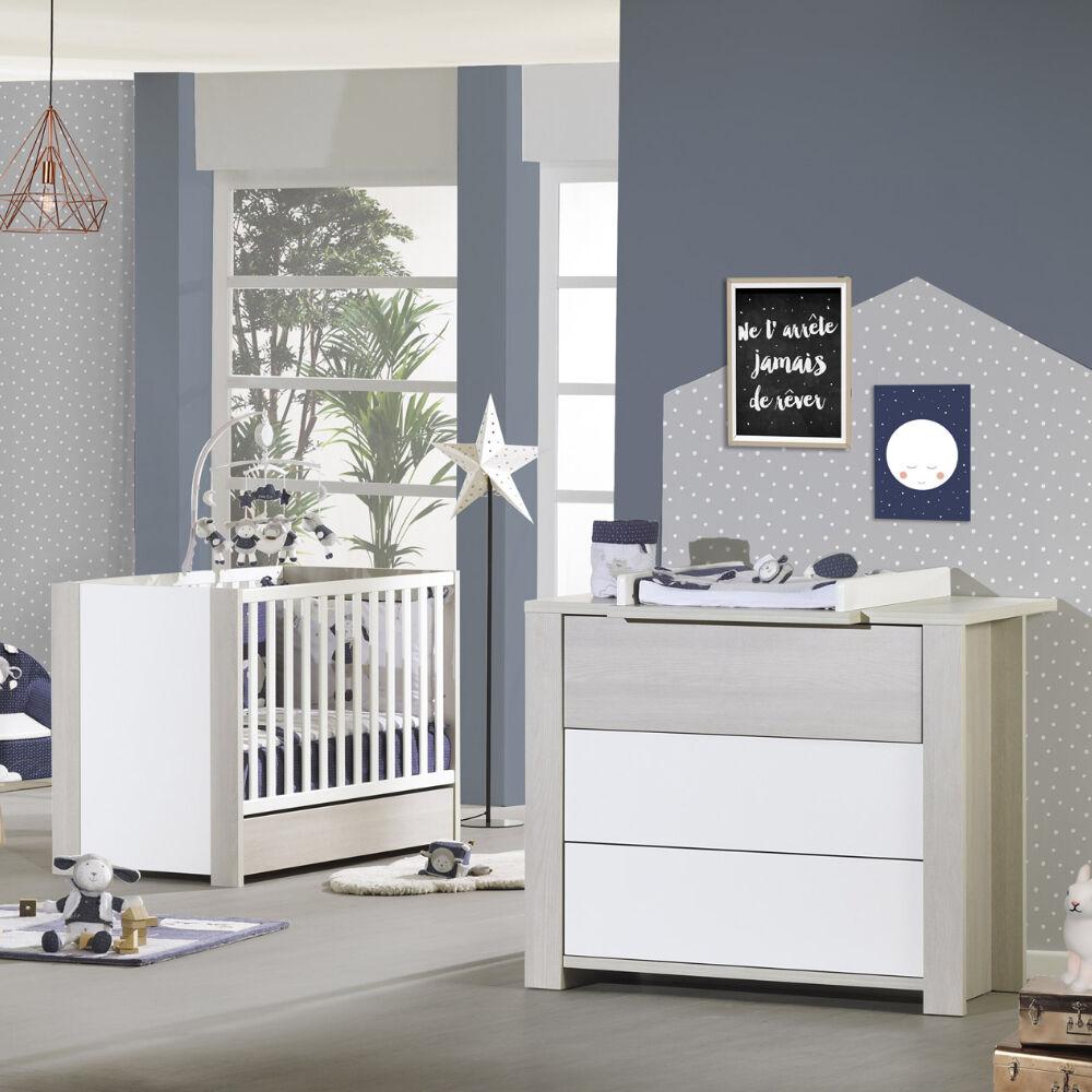 Sauthon Lit bébé évolutif New Opale BEIGE Sauthon