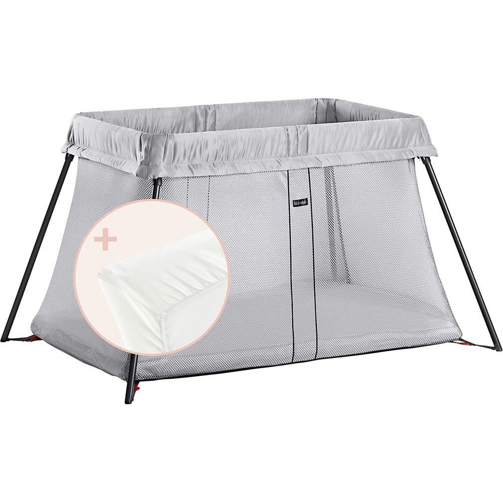 BabyBjörn Lit parapluie Light + drap housse BLANC BabyBjörn