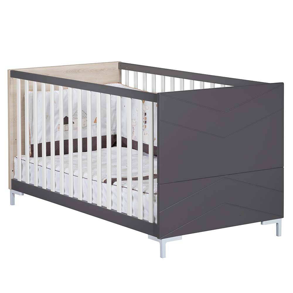 Sauthon Lit Little big bed Dark grey GRIS Sauthon