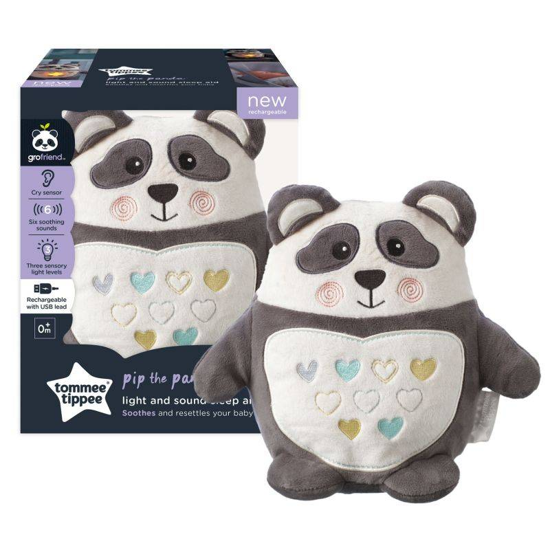 Tommee Tippee Peluche aide au sommeil Grofriend rechargeable - Pippo le Panda NOIR Tommee Tippee