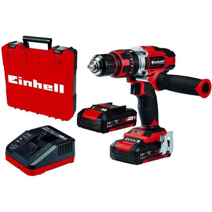 Einhell perceuse à percussion batterie au lithium TE-CD 18/48 Li-i (2x2,0Ah)