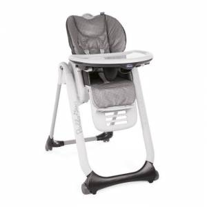 CHICCO Chaise haute Polly 2 Start - 4 Roues - Anthracite