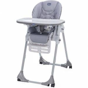 CHICCO Chaise Haute Polly Easy 4 Roues Nature