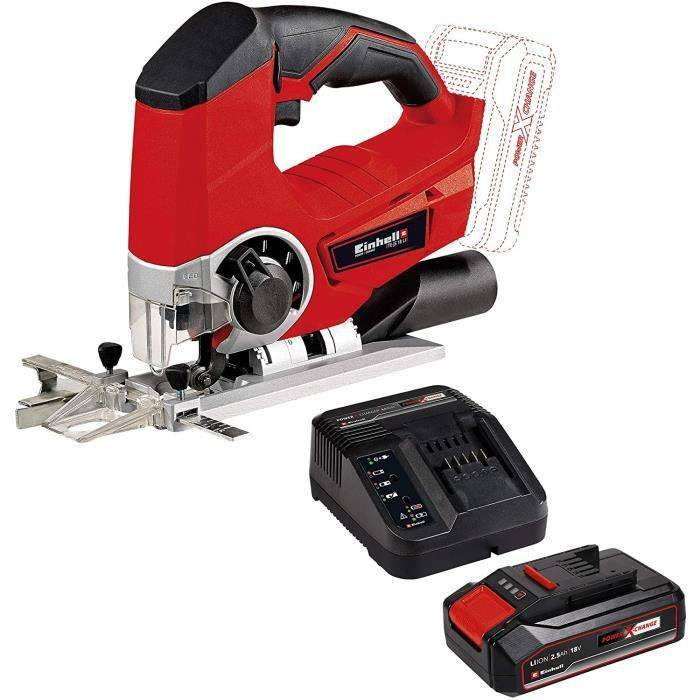 Einhell Scie sauteuse pendulaire sans fil Solo - Power X-Change + Starter Kit Power X-Change, Lithium-Ion, 1 chargeur + 1 batterie 2