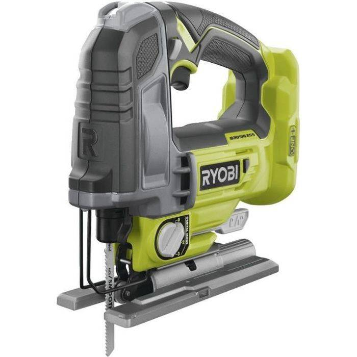 RYOBI Scie sauteuse pendulaire RYOBI 18V OnePlus Brushless - 135 mm - Sans batterie ni chargeur - R18JS7-0