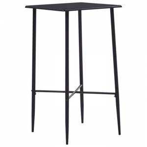 OVONNI Table bar de 2 à 4 personnes - Table haute style contemporain Noir 60x60x111 cm MDF