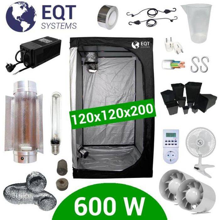 Pack Box 600W Cooltube 120x120 - Black Box 2 + Supacrop