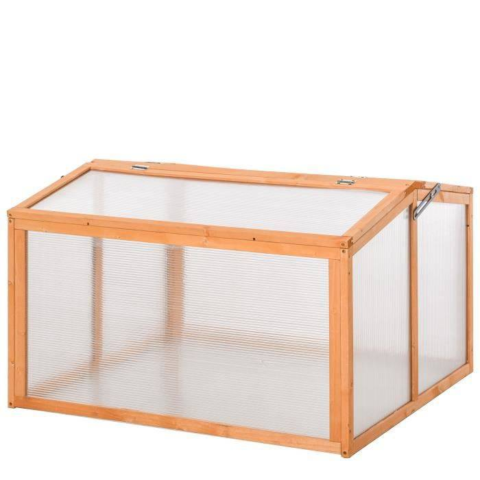 OUTSUNNY Mini serre de jardin toits ou 90x80x58cm Orange